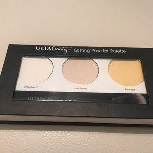 Ulta Beauty Setting Powder Palette with Brush